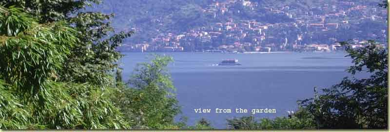 from the garden you have a bit view on the lake Como